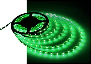 Water-Resistance IP65, 12V Waterproof Flexible LED Strip Light, 16.4ft/5m Cuttable LED Light Strips, 300 Units 3528 LEDs Lighting String, LED Tape(Green) Power Adapter not Included