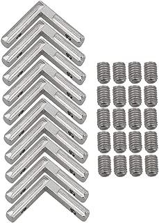cnbtr acero al carbono 2020perfil de aluminio plata Europea esquina conector conjunto soporte paquete de 10