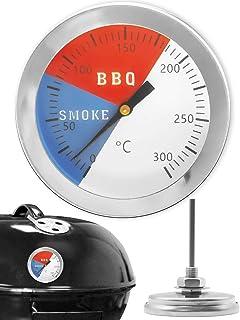 HomeTools.eu® - Termometro analogico per barbecue, resistente alla temperatura, per BBQ e affumicatore, diametro 5,2 cm, r...