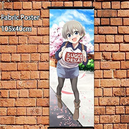 Henanyimeixiang Póster de Anime Uzaki-Chan Quiere Pasar el rato Sugoi Dekai Sexy Wall Scroll 105x40cm Impresiones artísticas decoración de la habitación del hogar DesignA