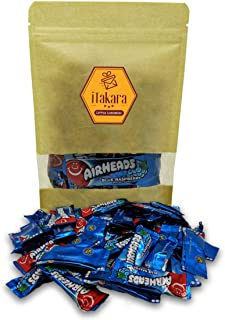 Airheads Bulk - Airheads Mini Candy Bars - Blue Raspberry Flavor - 24 oz in Sealed Stand-up Pouch