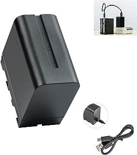VILTROX ビデオライトバッテリー LALEADER NP-F970バッテリー LEDパネル照明 6600mAh NP-Fシリーズ交換バッテリー USB Type-C充電 バッテリー残量表示 DC-55HDモニター/VL-D85T/Spri...