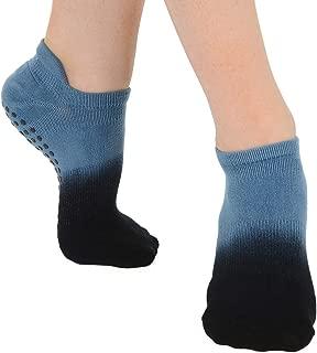 Great Soles Ombre, Sport, and Novelty Print Non Skid Socks for Women - Non Slip Grip Yoga Socks for Pilates, Barre, Ballet