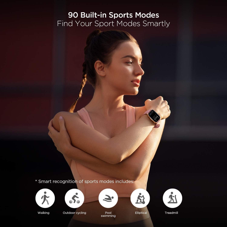 Amazfit GTS 2e Montre Connectée Homme Femmes avec 90+ Modes Sportifs