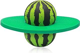 ZYAQ Pogo Ball with Pump, Jump Trick Hopper Bounce Watermelon Ball for Kids Adults