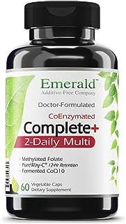 Complete 2-Daily Multi - Multivitamin with Coenzymes + Antioxidants + CoQ10 & Full Spectrum Carotenoids - Emerald Laborato...