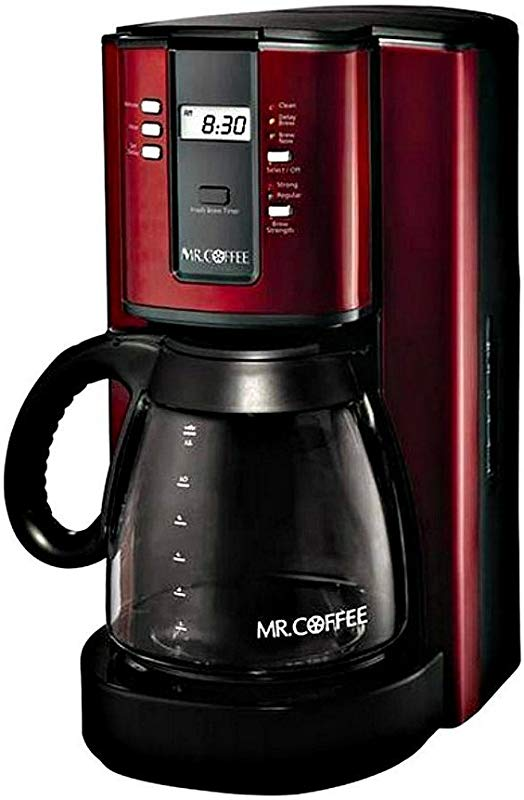 Mr Coffee 12 Cup Programmable Coffeemaker Red