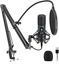USB Microphone with One-Touch Mute and Mic Gain Knob MAONO AU-PM421 Professional Cardioid Condenser Podcast Mic for Online...