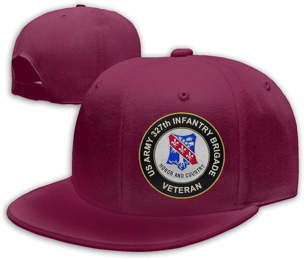 US Army Veteran 327th Infantry Brigade Adjustable Snapback Hats Unisex Cotton Baseball Caps