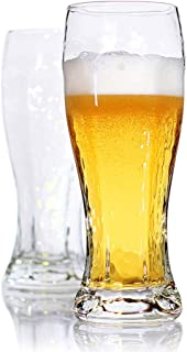 Bavel Pilsner Glasses for Urquell,16 oz,Wheat Beer Glasses,Crystal Clear,Better Head Retention Aroma and Flavor,for Craft,Drinking Lover - Set of 2 (16 oz)