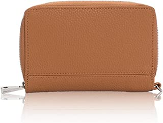 Thirty One Rolling Jewell Wallet in Caramel Charm Pebble - No Monogram - 8022