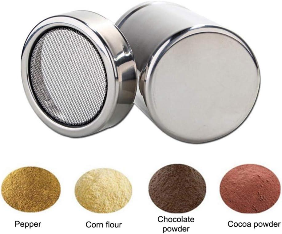 Austinstore Edelstahl Kaffee Shaker Staubwedel Zucker Pulver Kakao Mehl Sieb Gr/ö/ße S