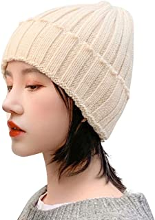 Home Prefer Womens Thick Knit Daily Beanie Hat Cuffed Warm Winter Hat Watch Cap