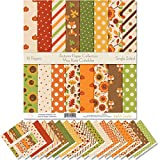 Pattern Paper Pack - Autumn - Scrapbook Premium Specialty Paper Single-Sided 12'x12' Collection Includes 16 Sheets - by Miss Kate Cuttables