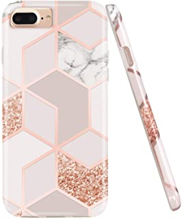 Jaholan Stylish Shiny Rose Gold Marble Design
