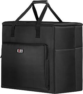 BUBM Multi-Pocket Large Capacity Desktop PC Computer Travel Storage Carrying Case Bag Organizer for 27 Inch Computer Main ...