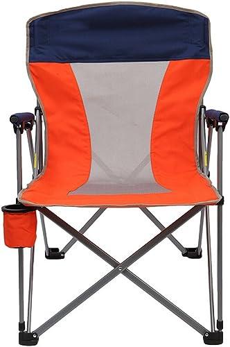 GHM Chaise de Camping Camping Chaise extérieure Portable Loisirs pêche Pique-Nique Chaise Pliante (Couleur   Orange)