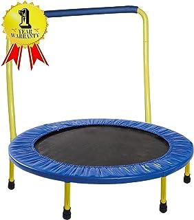 JumJoe Kids Trampoline - 36 inch, with Handle bar, Safety, Portable - 1 Year Warranty. (Yellow)