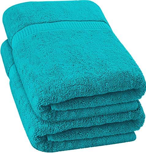 Utopia Towels - Extra großes Badetuch aus weicher Baumwolle, 88,9 x 177,8 cm, türkis, 2 Stück