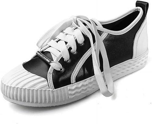 Oudan Femmes Chaussures Petites Petites Petites Chaussures Simples Collier à Volants en Chaussures de Dentelle (Couleuré   Noir, Taille   35) ae2