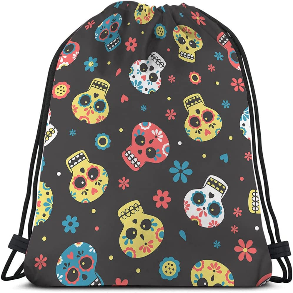 Beabes Skulls Drawstring 25% OFF Bags Backpack Max 69% OFF Blue Bag Yellow Dead Red