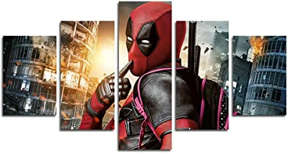 Leyrus 5 Piece Deadpool Movie Poster Decoration (No Frame) Unframed YSH039 50 inch x30 inch