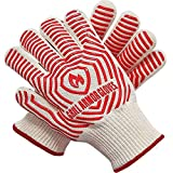 Grill Armor Oven Gloves - Extreme Heat Resistant EN407 Certified 1472℉ - Cooking Mitts for BBQ,...