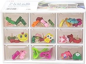 Chris-Wang Mini Acrylic 9-Drawer Desktop Storage Organizer/Collection Caddy/Small Belongings Holder/Desk Sorter, 181012cm, Black/White Mini White