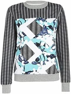 Peter Pilotto® for Target® Sweatshirt -Light Blue Floral/stripe Print S