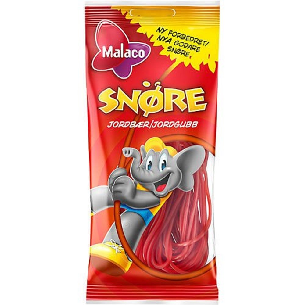 12 specialty shop Bags x 94g of Malaco Jordgubb Strawberry Original Limited Special Price - Snore