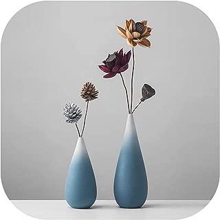 AAAA Cabinet Flower Vase Decor Ceramic Vase Color Changing Sky Blue Vase Contemporary Garden Vase,06