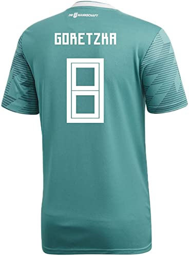 Adidas Goretzka   8Allemagne Away Soccer Stadium pour Homme S S Maillot Coupe du Monde de Football Russie 2018