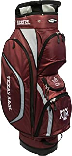 Team Golf NCAA Clubhouse Golf Cart Bag, Lightweight, 8-way Top with Integrated Handle, 6 Zippered Pockets, Padded Strap, Towel Ring, Umbrella Holder & Removable Rain Hood
