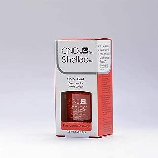 Creative Nail Design Shellac UV Color Coat Fine Vermilion .25oz