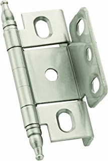 Amerock PK3175TMG10 Full Inset, Full Wrap, Minaret Tip Hinge with 3/4in(19mm) Door Thick. - Satin Nickel