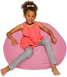Posh Creations Bean Bag Chair for Kids, Teens, and Adults Includes Removable and Machine Washable Cover, 38in - Large, Sol...