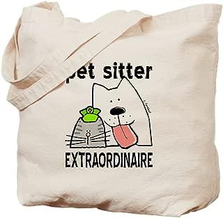 CafePress Pet Sitter Extraordinaire Natural Canvas Tote Bag, Reusable Shopping Bag