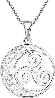 Triskele Amulett Anhänger 925 Silber Triskel mit Knoten triquetra Kelten Wicca