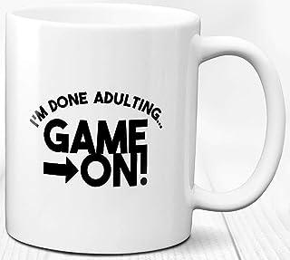 Taza de café Juego encendido 330 ml Taza de cerámica para jugador de videojuegos de regalo para jugadores