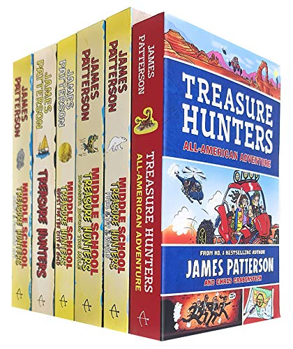 Treasure Hunters Middle School Series 1-6 Books Collection Set By James Patterson (Treasure Hunters, Danger Down the Nile, Secret of the Forbidden City, Peril at the Top of the World and More)
