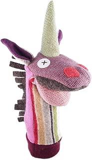 Cate & Levi - Hand Puppet - Premium Reclaimed Wool - Handmade in Canada - Machine Washable (Unicorn)