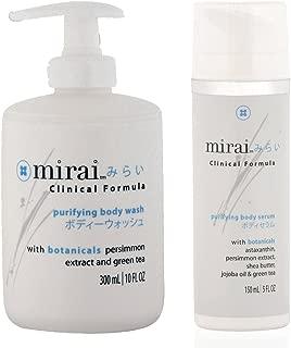 Mirai Clinical Persimmon Body Wash and Body Serum