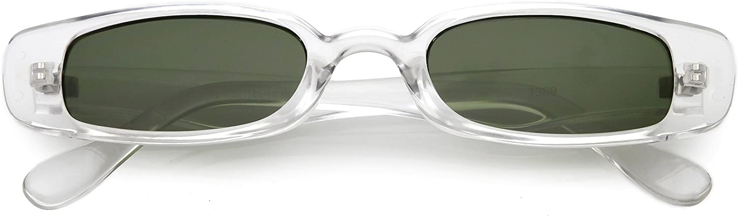 Max 62% OFF Extreme Thin Small Rectangle Sunglasses Lens Neutral 49m El Paso Mall Colored