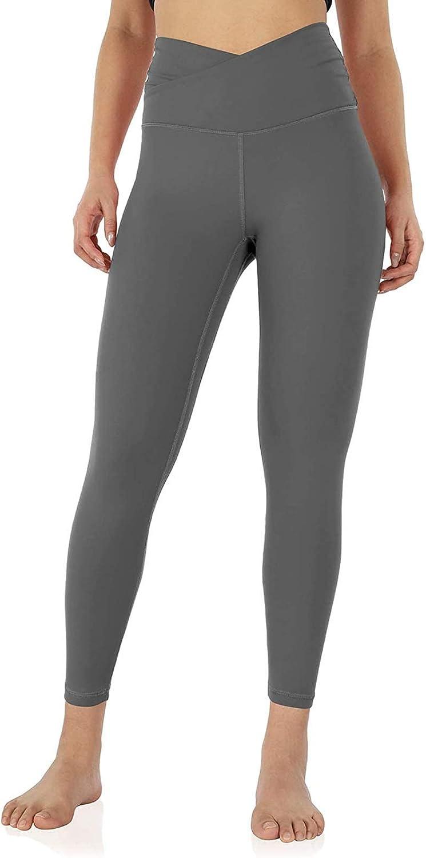 Women Cross Waist Butt Lifting Petite Yoga Pants Fitness Sports Running Leggings