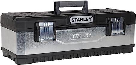 STANLEY Gegalvaniseerde gereedschapskist met zwaar metalen scharnier, draagbare draagschaal voor gereedschap en kleine ond...