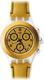 Swatch Women's SVCK4069 Mustardy Year-Round Chronograph Quartz Gold Watch