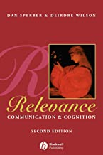 Permalink to Relevance: Communication and Cognition PDF