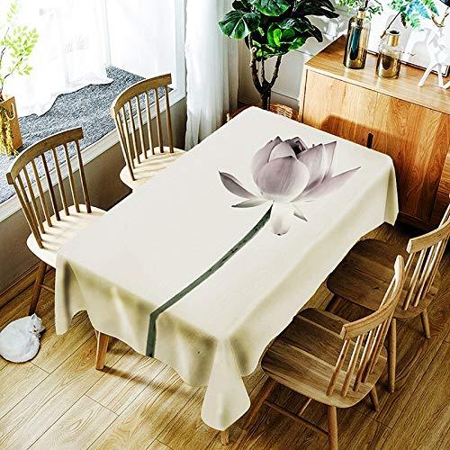 XXDD Mantel de Loto 3D Fondo Puro Flor de Diente de león y patrón de niña Cubierta de Mantel Impermeable y a Prueba de Polvo A9 135x180cm