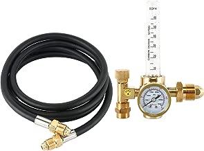 SKYTOU Argon Regulator TIG Welder MIG Welding CO2 Flowmeter 10 to 60 CFH CGA-580 Inlet Connection Gas Welder Welding Regulator With 80'' (6.6FT) Hose More Accurate Gas Metering Delivery System