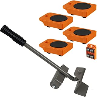 Furniture Lifter with 4pc Mover Rollers, Move Heavy Furniture Easily- Furniture & Appliances Roll with Ease 4